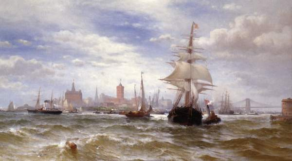 ''City And Harbour Of New York' by Edward Moran (1889).